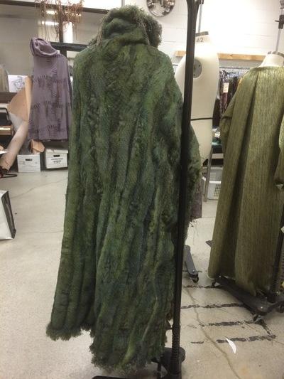 deneen mcarthur - Moss Cloak, The Magicians fibre manipulation/airbrush