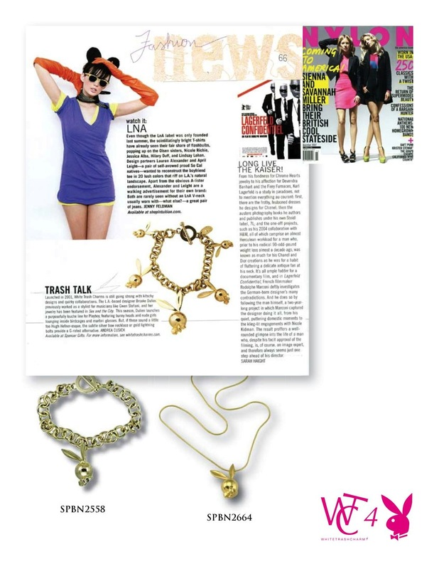 BROOKEDULIEN - WHITE TRASH CHARMS FOR PLAYBOY-Jewelry Designer- Brooke Dulien