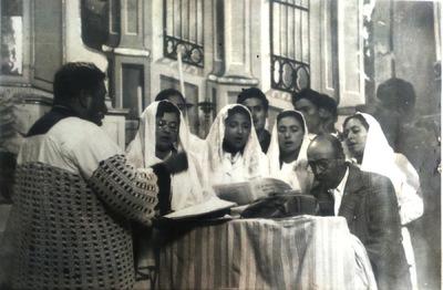 Elisa Lemus - El coro de la iglesia 1953 - 1959.
