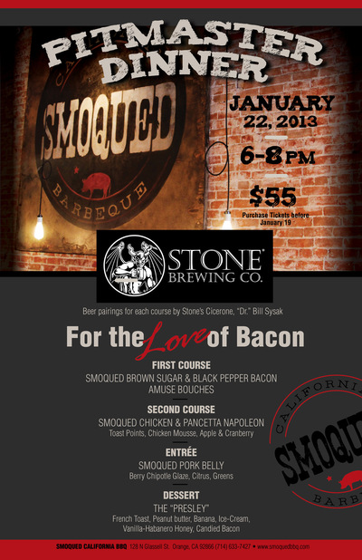 roguehousecreative - Smoqued BBQ Pitmaster_Stone Brewing_Flyer