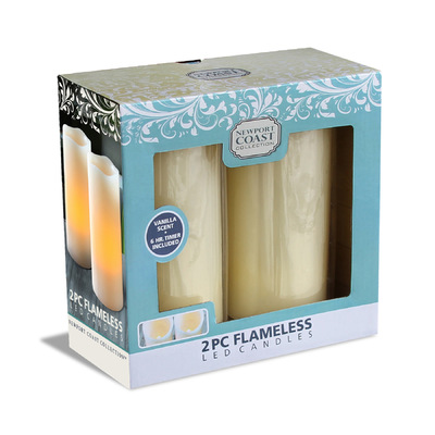 roguehousecreative - Natures Mark_2 Pack Pillar Flameless Candle Set_WALMART