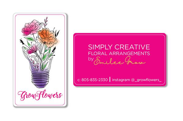 roguehousecreative - Emily Grow_Grow Flowers Business Card