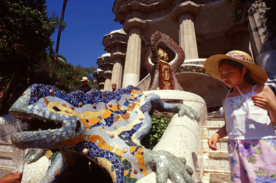 Art Photography - Park Guell, Barcelona, Gaudi.