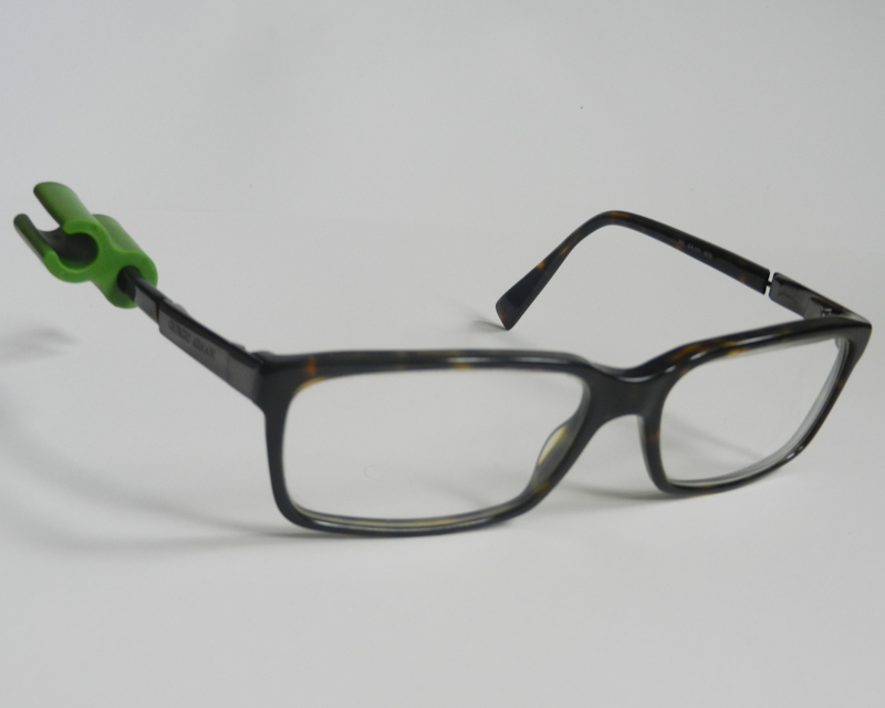 Atticus Anderson Portfolio - Medium Green Grip Clip on Glasses