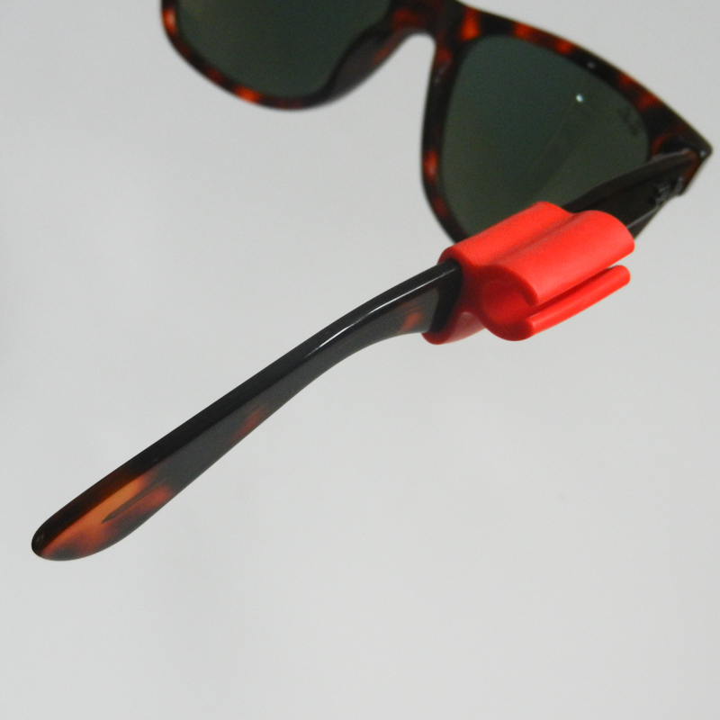 Atticus Anderson Portfolio - Large Red Grip Clip on Sunglasses