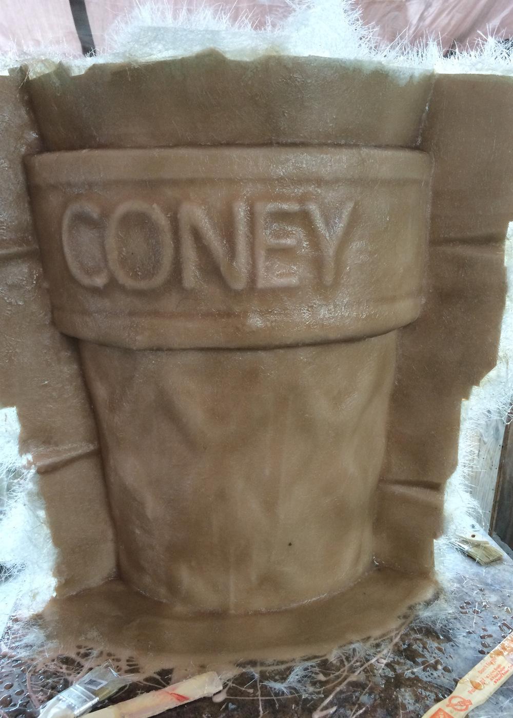 Atticus Anderson Portfolio - Fiberglass mold construction of Coney for Scream Queens