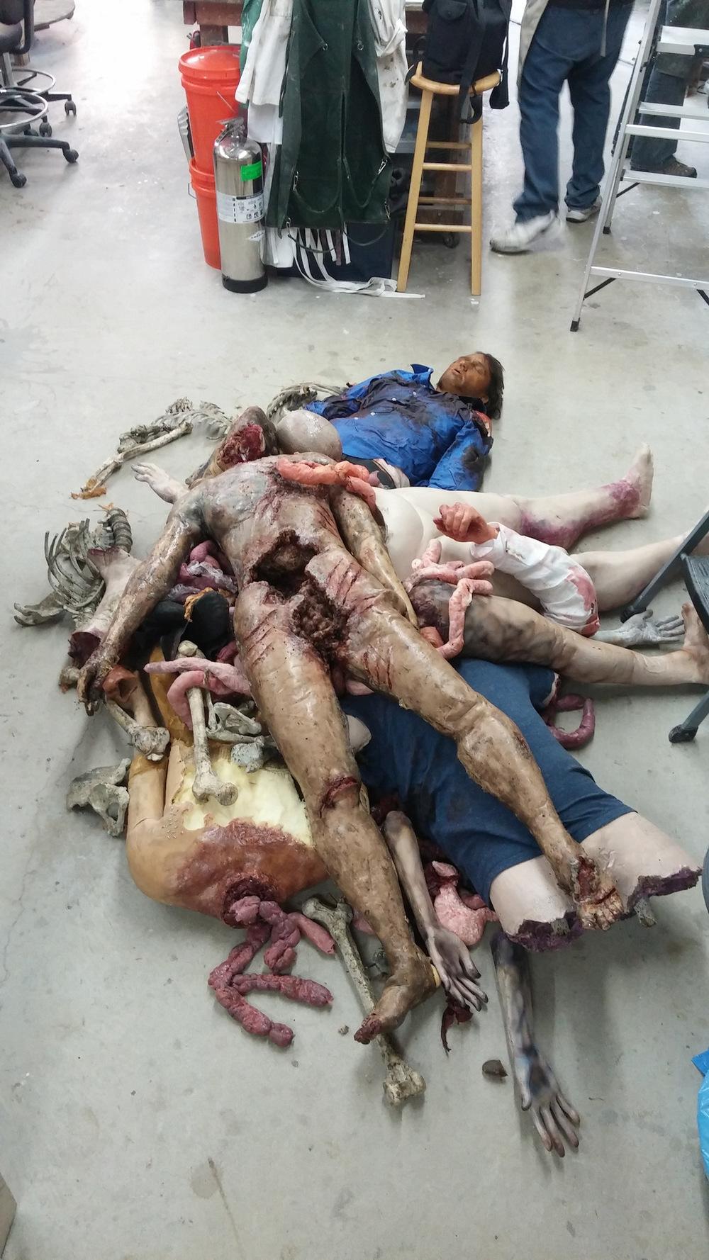 Atticus Anderson Portfolio - Pile of fabricated bodies.
