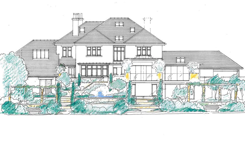 plants by design - design drawing for terraced garden in Harrogate 2012