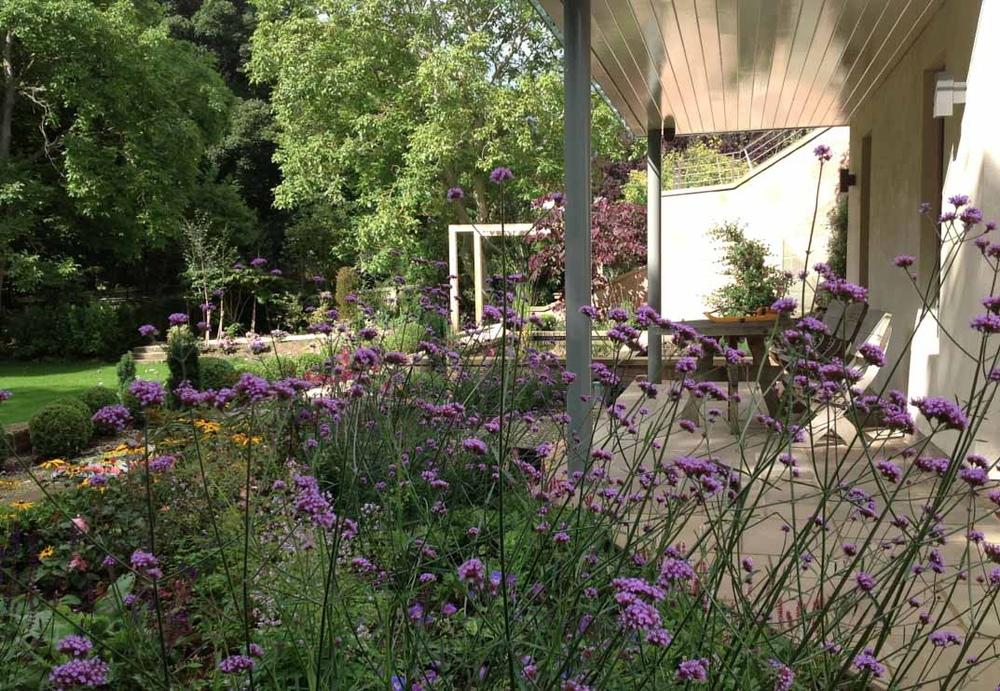 plants by design - lower terrace flower garden