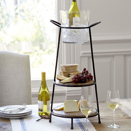 arh creative - Vineyard Elevated Serve Stand Client: Pottery Barn Photo: Courtesy of Pottery Barn