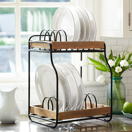 arh creative - Vintage Blacksmith Double Dish Rack Client: Pottery Barn Photo: Courtesy of Pottery Barn