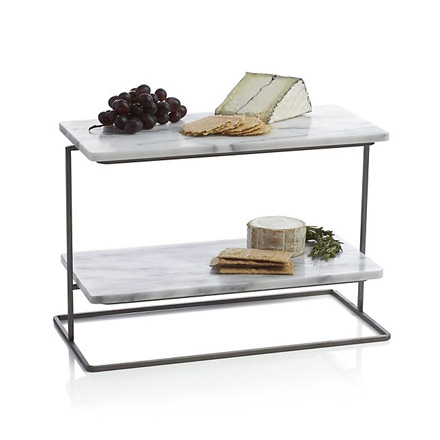 arh creative - Rigsby Marble 2-Tiered Server Client: Crate & Barrel Photo: Courtesy of Crate & Barrel