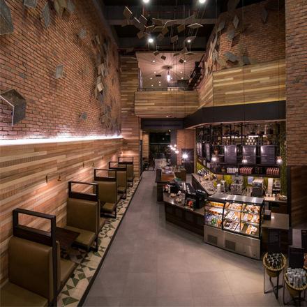 arh creative - Banquette for Torre 95/Bogota/Colombia Client: StarbucksPhoto: Courtesy of Starbucks