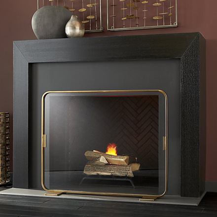 arh creative - Lana Fireplace Screen  Client: Crate & Barrel Photo: Courtesy of Crate & Barrel