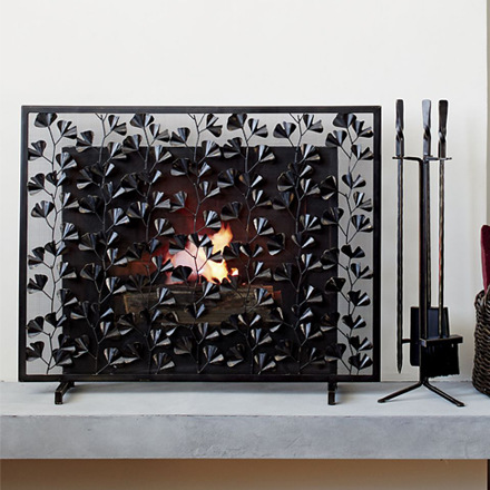 arh creative - Ginkgo Fireplace Screen  Client: Crate & Barrel Photo: Courtesy of Crate & Barrel
