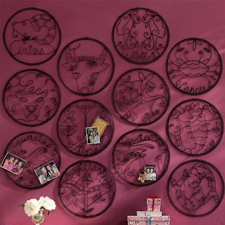 arh creative - Wire Zodiac Wall Decor Client: Pottery Barn Teen Photo: Courtesy of Pottery Barn Teen