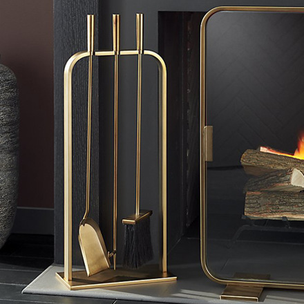 arh creative - Lana Fireplace Tools Client: Crate & Barrel Photo: Courtesy of Crate & Barrel