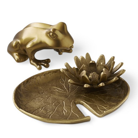 arh creative - Brass Frog & Lilypad Client: Williams-Sonoma HomePhoto: Courtesy of Williams-Sonoma Home