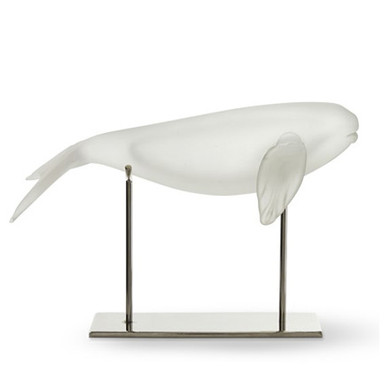 arh creative - Glass Whale on Nickel Stand Client: Williams-Sonoma HomePhoto: Courtesy of Williams-Sonoma Home