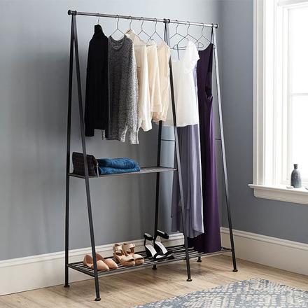 arh creative - Antique Modular Gray Clothes Rack Client: Pottery BarnPhoto: Courtesy of Pottery Barn