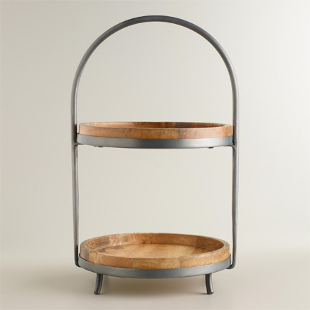 arh creative - Wood & Metal 2-Tier Serving Stand Client: Cost Plus World Market Photo: Courtesy of Cost Plus World Market