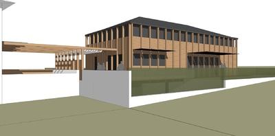 Pallaoro Balzan e Associati - Progetto preliminare per edificio bifamiliare, Pressano, Lavis, Trento