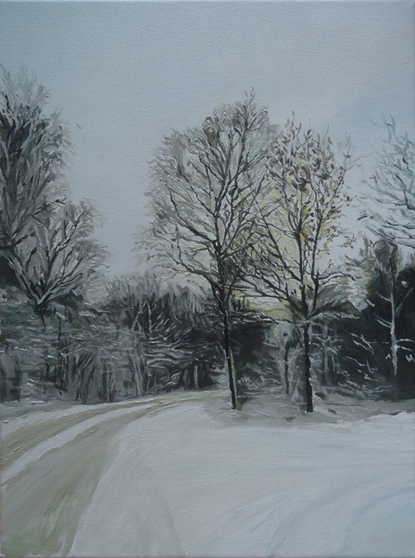 Timothy Adam Matthews - Allethorpe Wood (Winter) - 12x16
