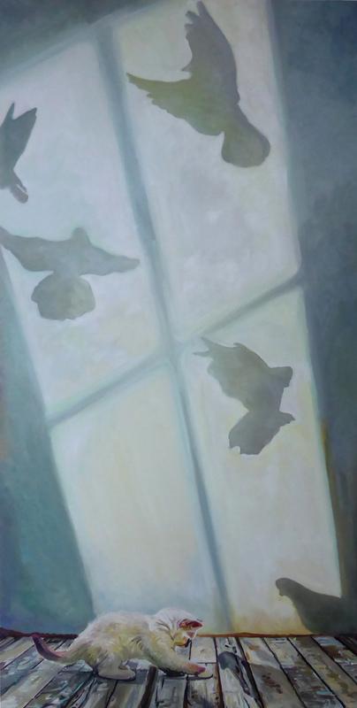 Timothy Adam Matthews - Curious Kittens 3 - 40x80cm