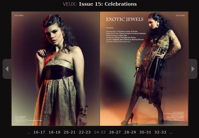 Make Up by ASM - Veux Magazine © Dec 2013 Photography by Christina Lazar Schuler Makeup on the right by Andrea Salazar M