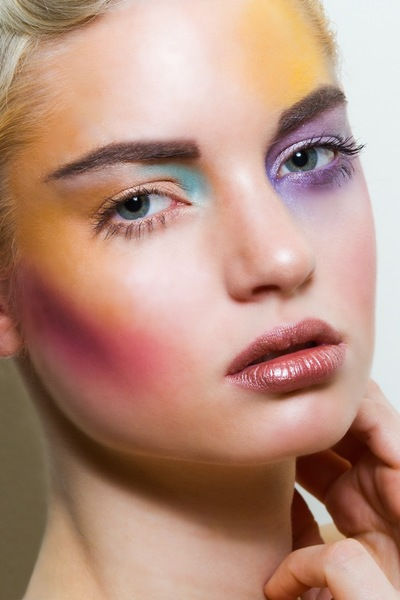Make Up by ASM - Techo-colours for Freshlyworn Magazine