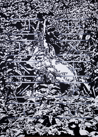Agata Kleczkowska - painting // malarstwo - Different cutting styles in seppuku, Acrylic on canvas, 120x80