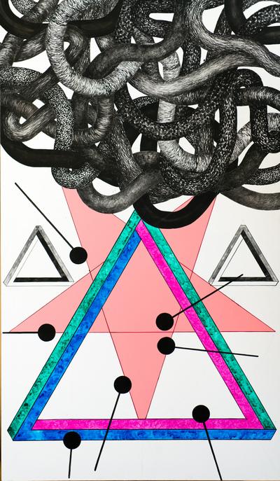 Agata Kleczkowska - painting // malarstwo - Acrylic on canvas, 130x80