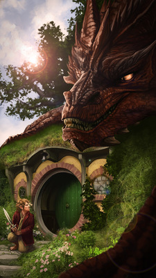 Celeste Hansen - Smaug at Bag End