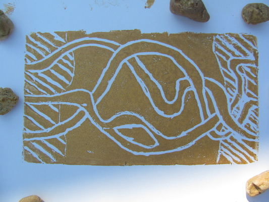 Vesta Faire - Print making- wonder cut boards.