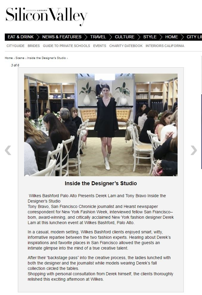 Heather Perry- Fashion Photography-San Francisco - Modern Luxury, Inside the Designers Studio with Derek Lam