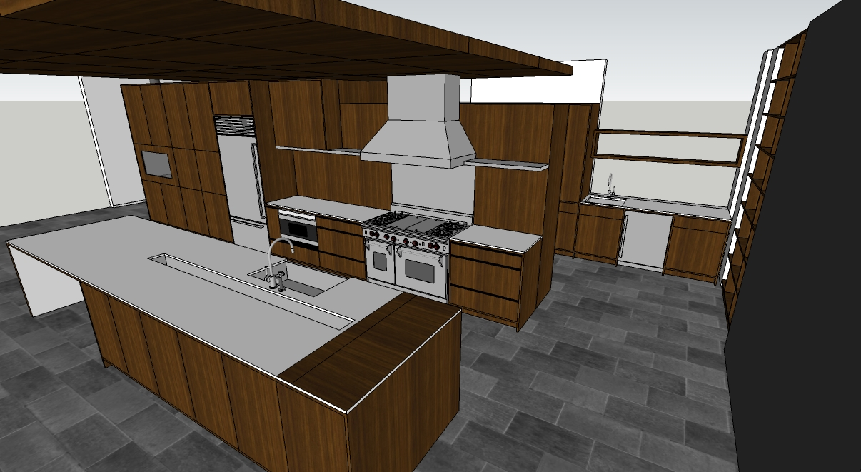 Holland Stephens Interiors - Sketch up Rendering of New Kitchen