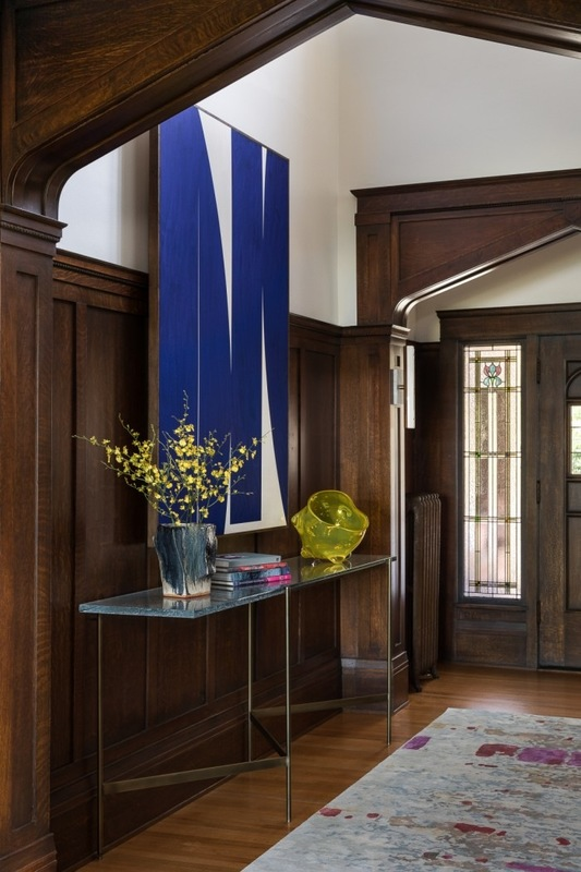 Holland Stephens Interiors - Entry with custom designed entry console