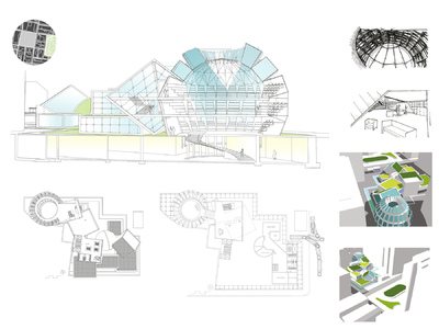 Margaret Molly McCormick Portfolio - Jefferson University Hospital Lecture Hall Competition, Philadelphia PA