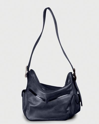 PALADINE - leather goods - MORGANE M Bleu Calfskin