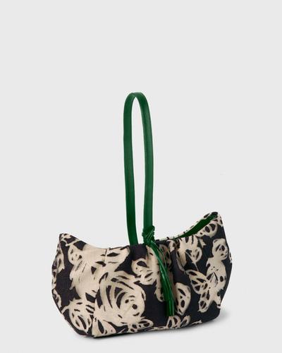 PALADINE - leather goods - Linen / Green Calfskin