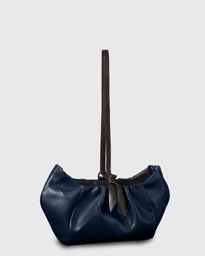 PALADINE - leather goods - Navy blue Calfskin / Black Lambskin