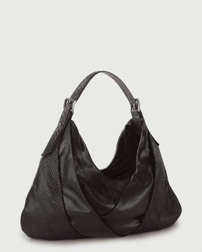 PALADINE - leather goods - Black Python / Black Lambskin