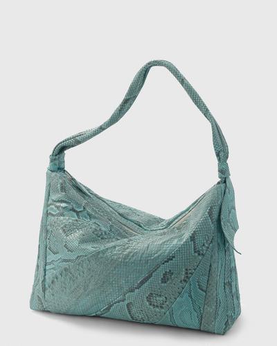 PALADINE - leather goods - Light blue Python