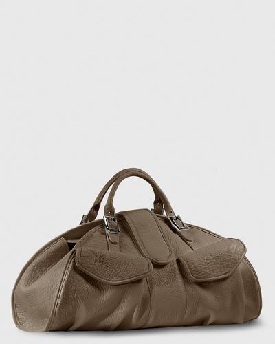 PALADINE - leather goods - CLEO L / Taupe Buffalo leather
