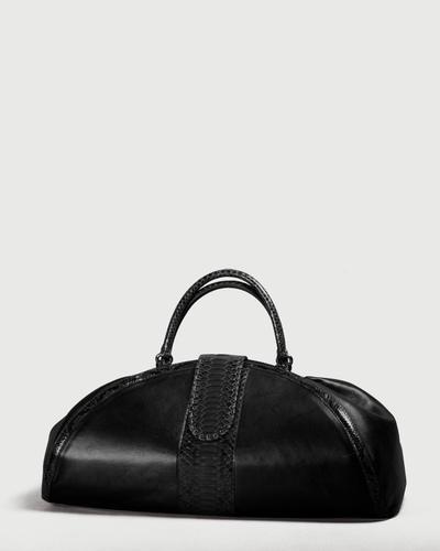 PALADINE - leather goods - CLEOPATRE L / Black Python / Black Lambskin
