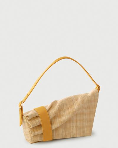 PALADINE - leather goods - Callisto Beige Straw / yellow Calfskin