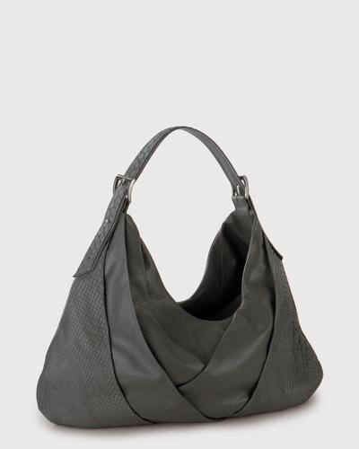 PALADINE - leather goods - Grey Python / Grey Lambskin