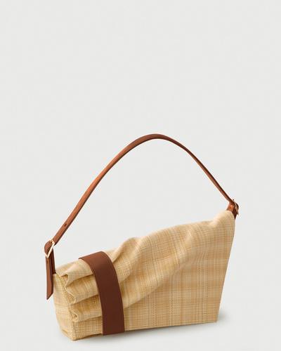 PALADINE - leather goods - Callisto Beige Straw / Brown Calfskin