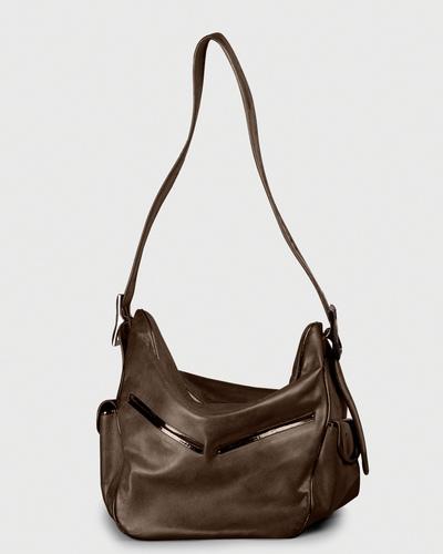 PALADINE - leather goods - MORGANE M Brown Calfskin