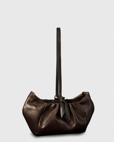 PALADINE - leather goods - Dark Brown Calfskin / Black Lambskin